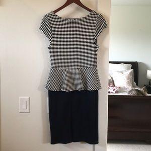 Anthropologie Dresses - NWOT Anthropologie Preppy Peplum Pencil Dress